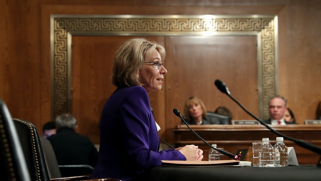 Betsy Devos Nomination Chilling >> Senate Democrats Finally Grew A Spine But It Was No Match For Betsy