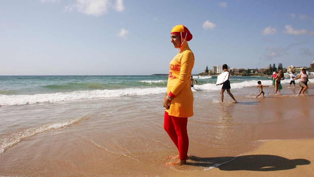 d496413f French P.M. Manuel Valls says naked breast better national symbol than  burkini