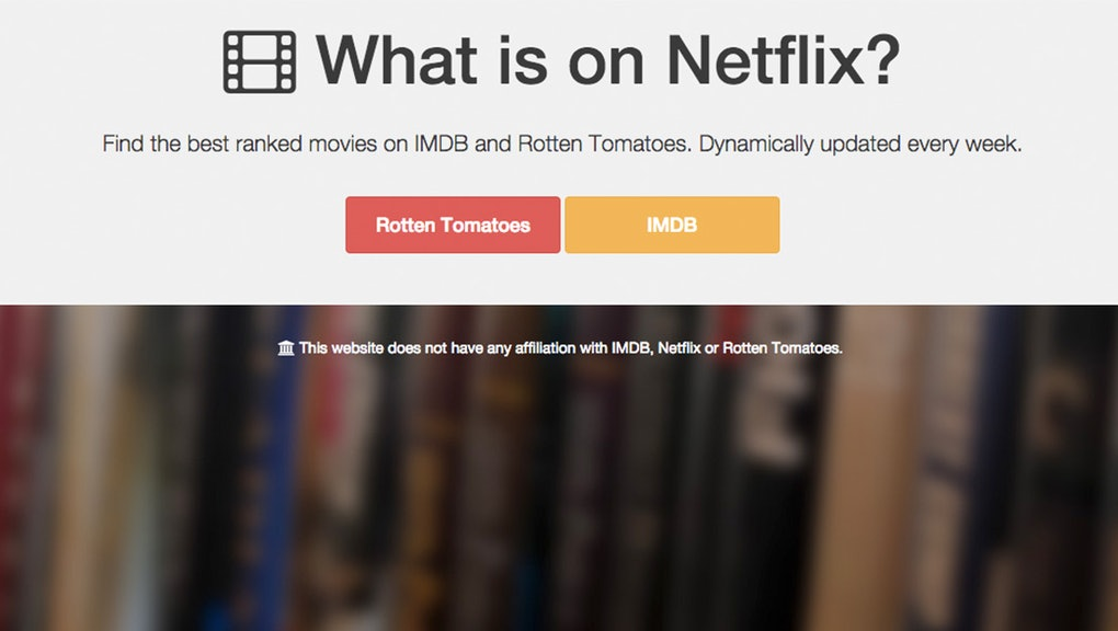 Finally The Perfect Website To Help You Pick Netflix Movies