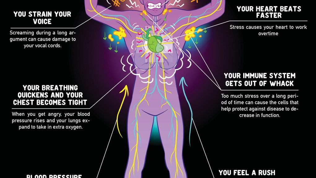 This Is What Happens to Your Body When You're Fighting With