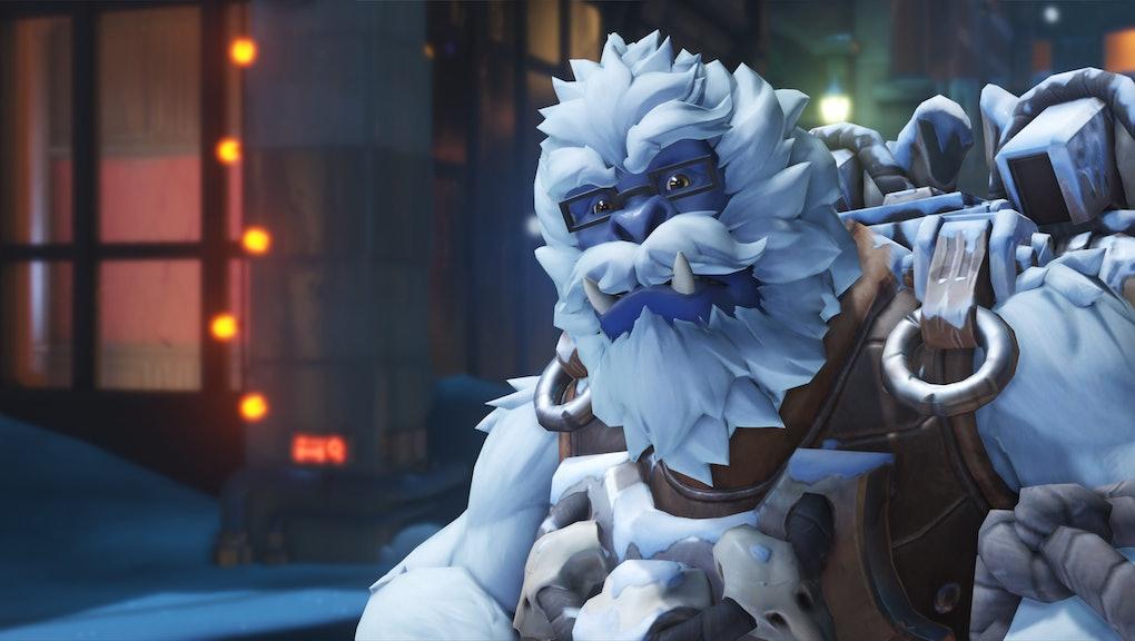 Winston Christmas Skin.Overwatch Christmas Emotes Sprays And Skins 11 Secrets In