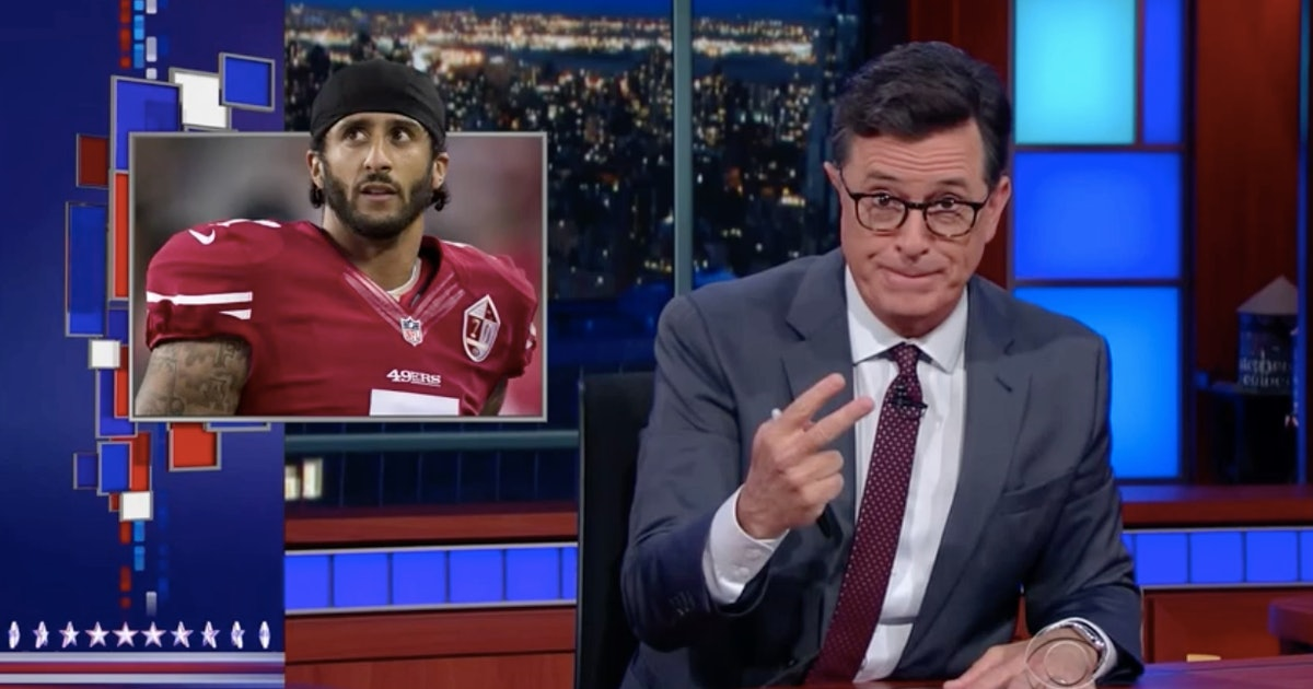 Stephen Colbert made a brilliant point about Colin Kaepernick and the national anthem