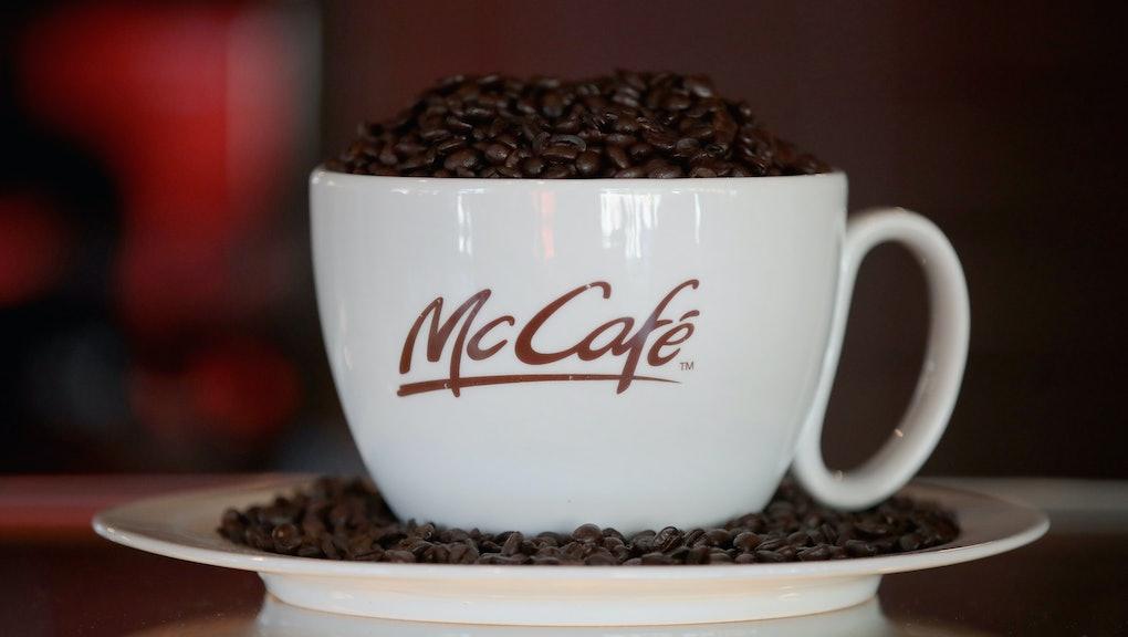 mcdonalds coffee brand green mountain