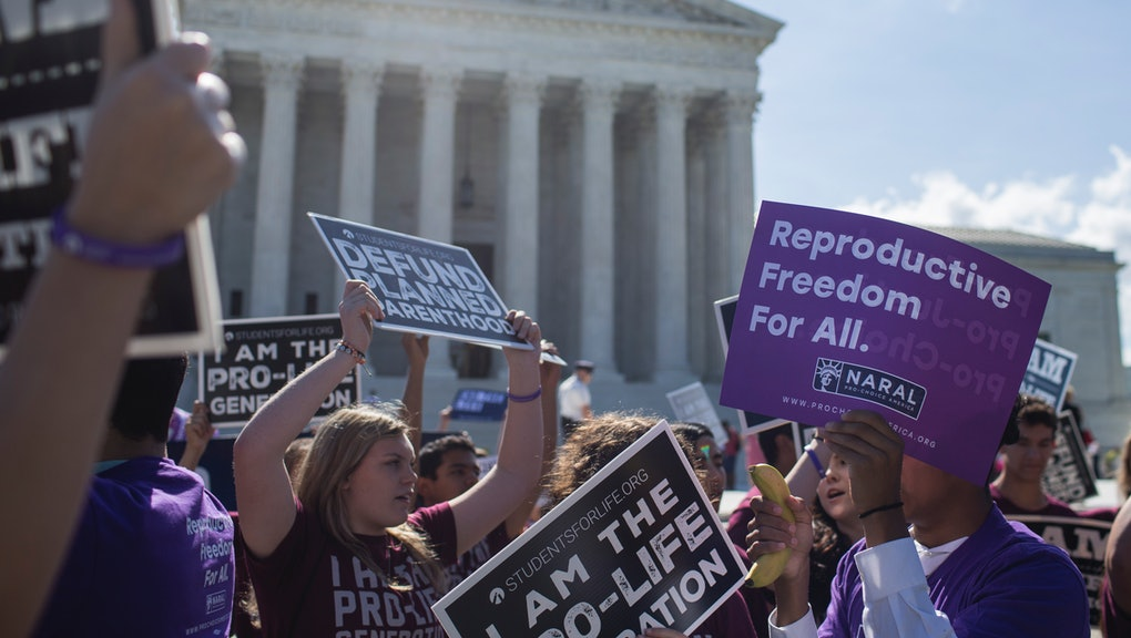 "These states have ""trigger laws"" banning abortion on the"