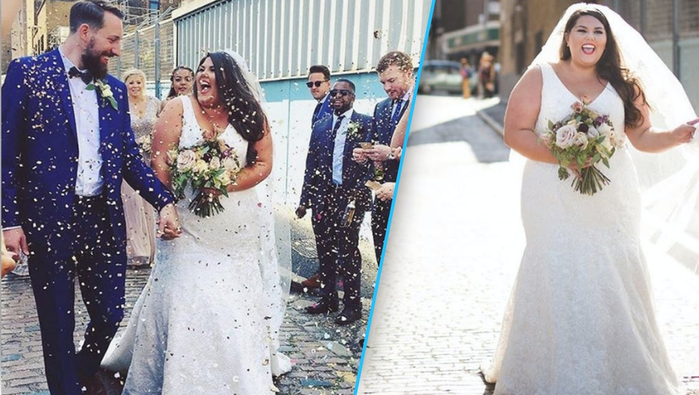 This woman\'s stunning wedding dress is a defiant statement for plus ...