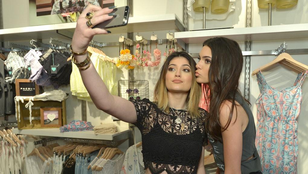 056f7beac9e Kylie and Kendall Jenner take a selfie.Source: John Shearer/AP
