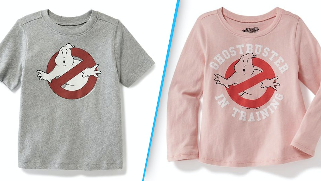 04603d517 Old Navy's in hot water over these seemingly sexist 'Ghostbusters' kids T- shirts