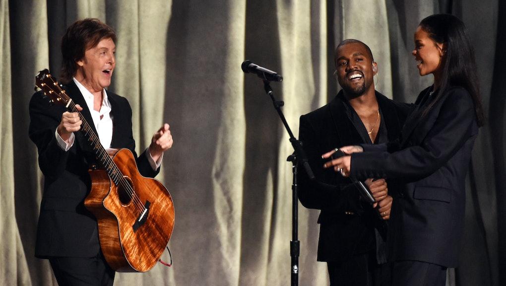 Rihanna, Paul McCartney and Kanye West Were Pop's Most