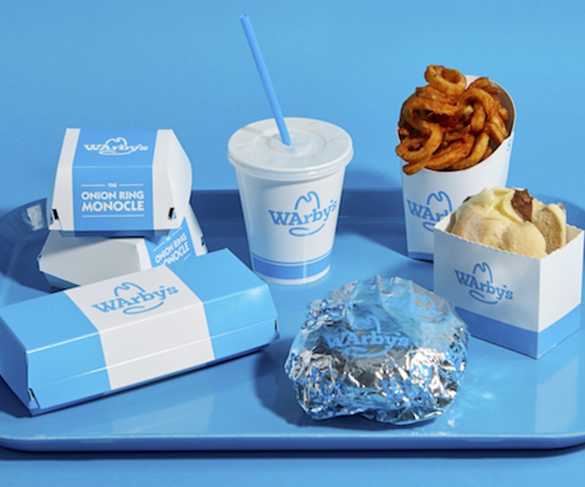 Food served during Warby Parker and Arby's comarketing campaign