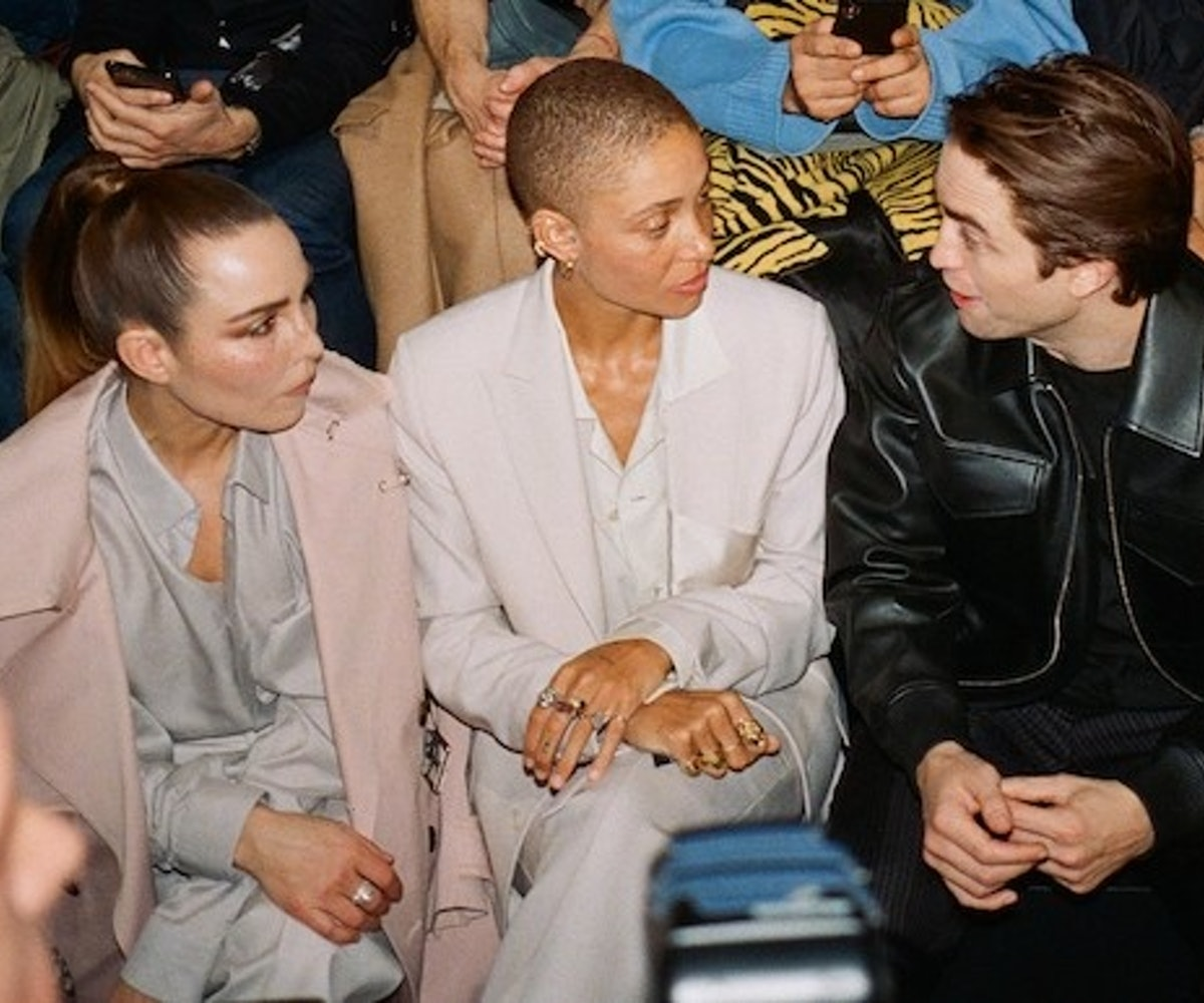 Adwoa Aboah talking to Robert Pattinson
