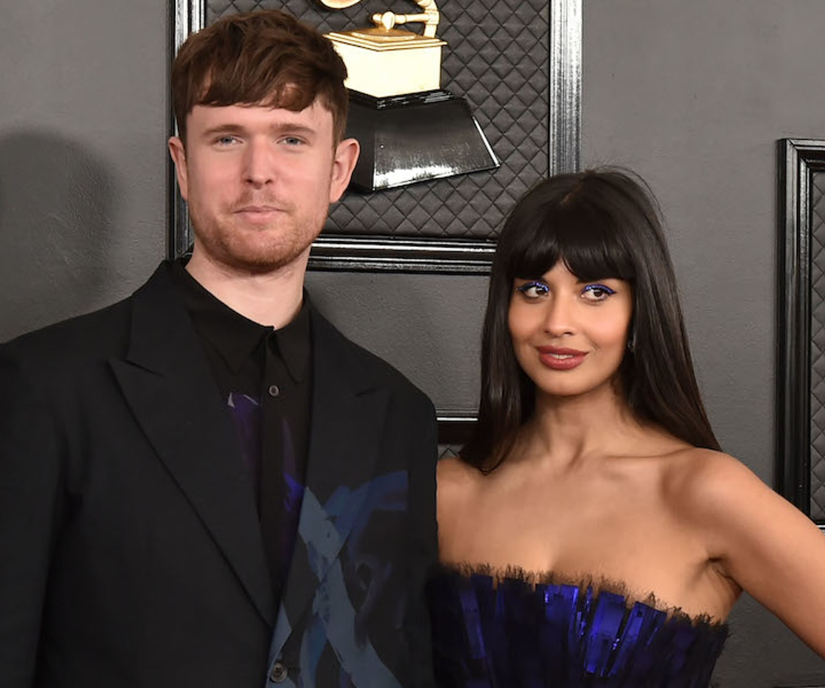 James Blake and Jameela Jamil attend the 62nd Annual Grammy Awards at Staples Center on January 26, 2020 in Los Angeles, CA.