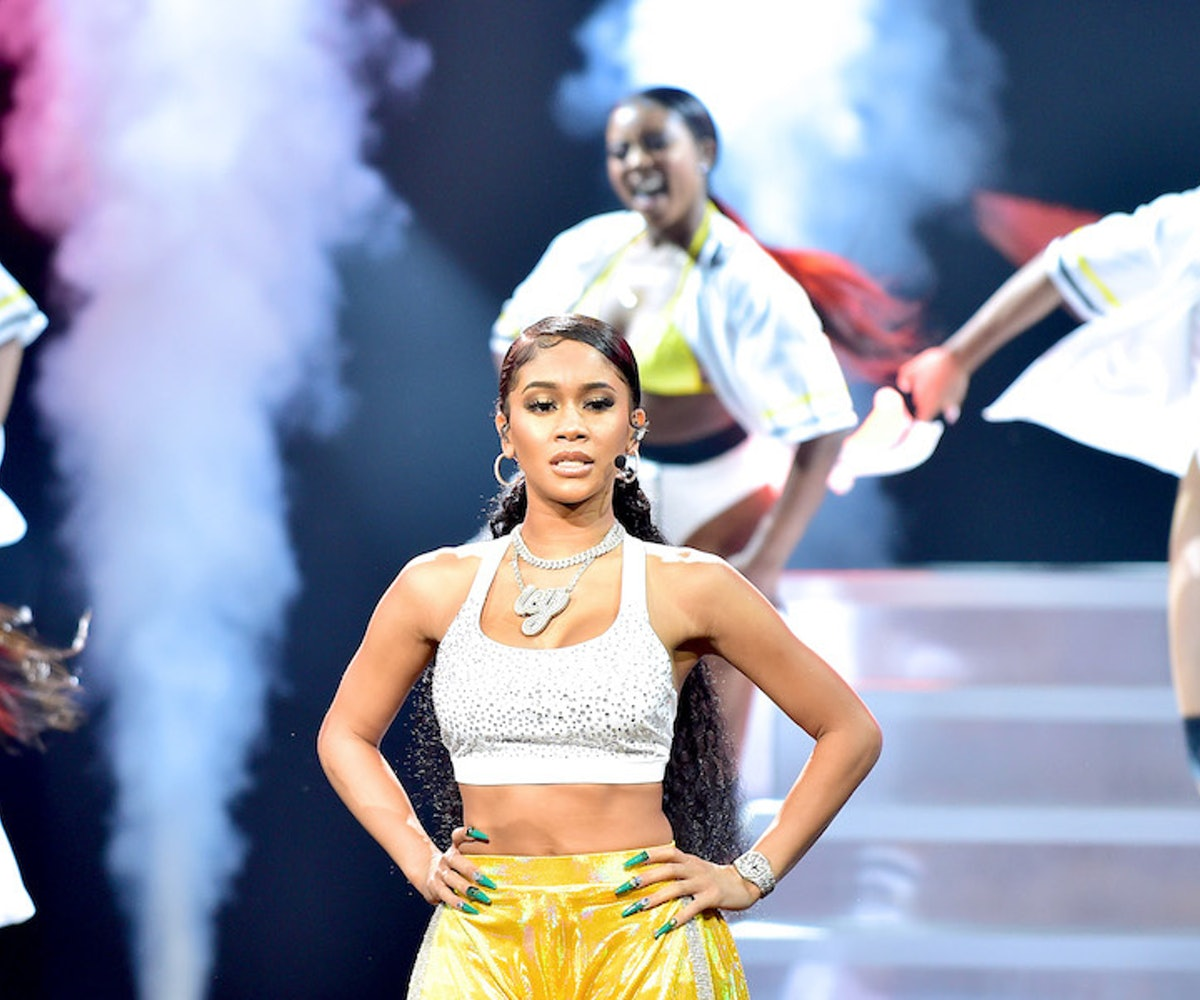 Lil Jon and Saweetie perform together