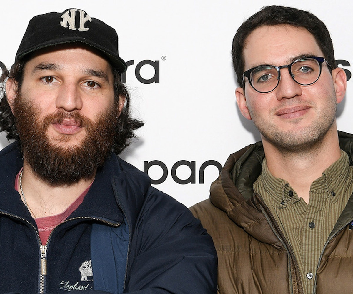 Josh Safdie (L) and Benny Safdie visit SiriusXM Studios on January 06, 2020 in New York City