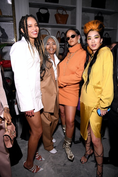 Khi-Lo, Joani Johnson, Rihanna, and Rina Sawayama at the Fenty x Bergdorf Goodman launch party during New York Fashion Week