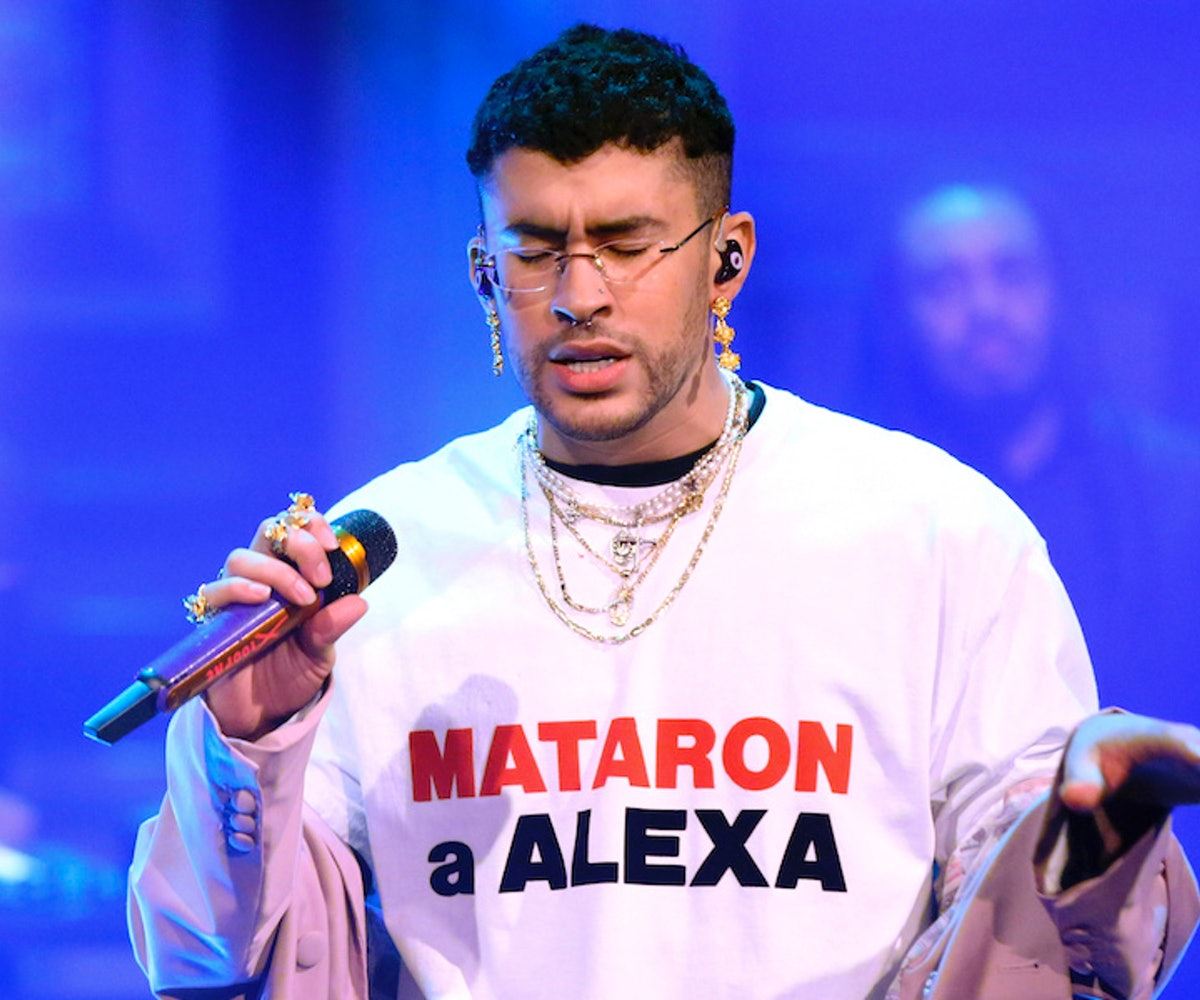 Musical guest Bad Bunny & Sech (not pictured) performs on February 27, 2020