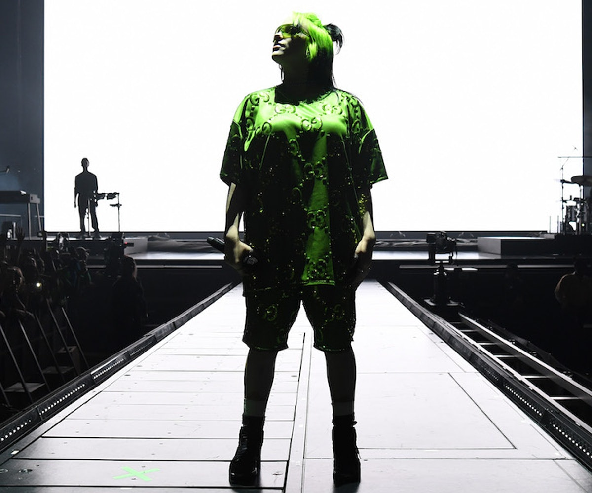 """Billie Eilish performs live on stage at Billie Eilish """"Where Do We Go?"""" World Tour Kick Off - Miami at American Airlines Arena on March 09, 2020 in Miami, Florida."""