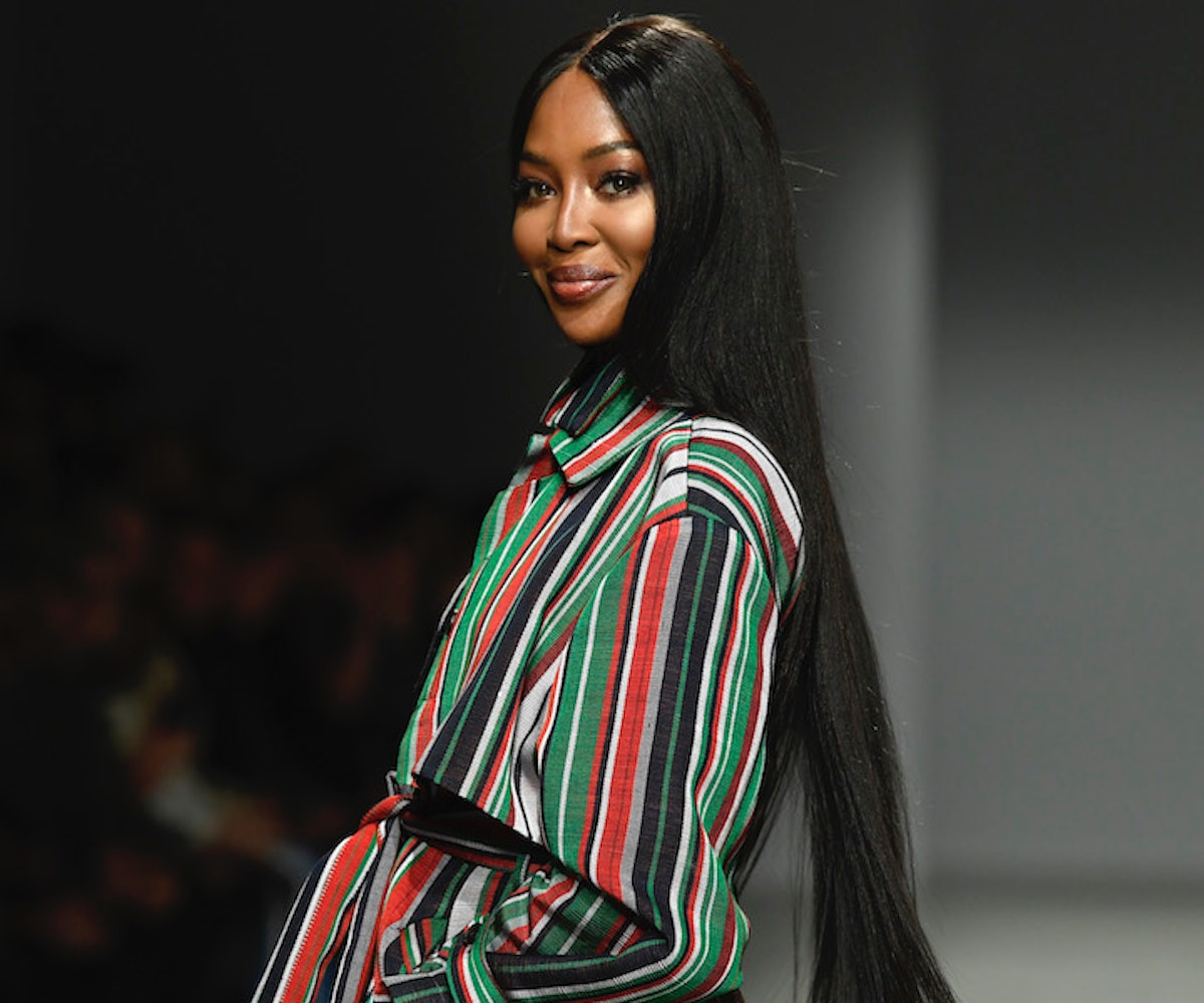 Naomi Campbell walks the runway during the Kenneth Ize show as part of Paris Fashion Week Womenswear...