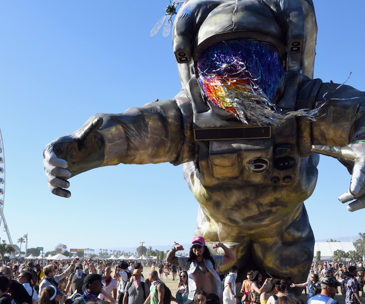 Overview Effect is seen during the 2019 Coachella Valley Music And Arts Festival on April 21, 2019 i...