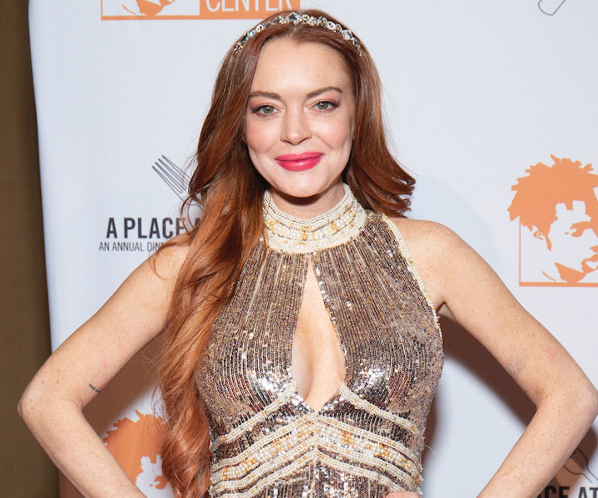 Lindsay Lohan attends the 2019 Ali Forney Center Gala at Cipriani Wall Street on October 25, 2019 in New York City