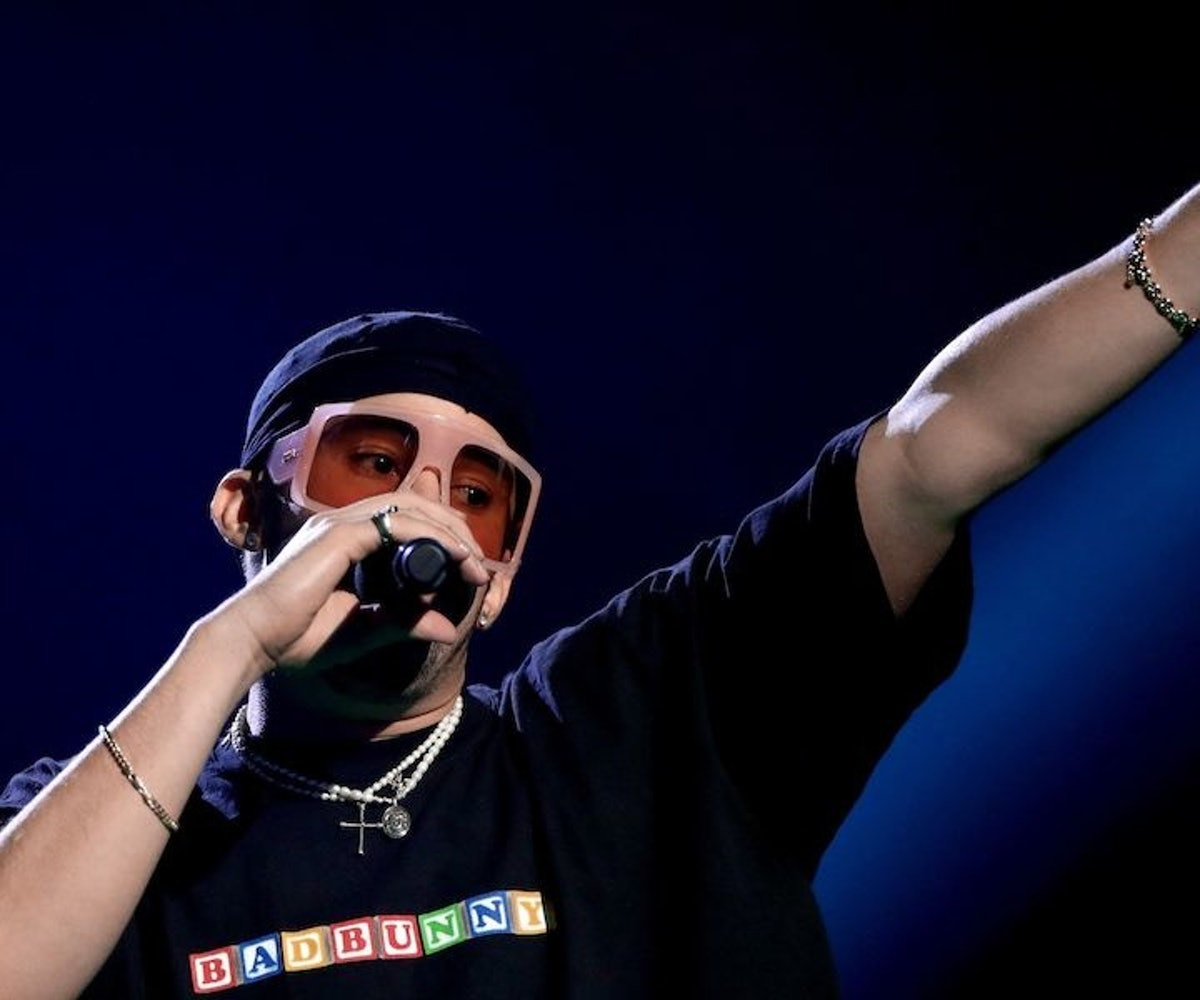 Bad Bunny performs onstage during the 2020 Spotify Awards at the Auditorio Nacional on March 05, 2020 in Mexico City, Mexico.