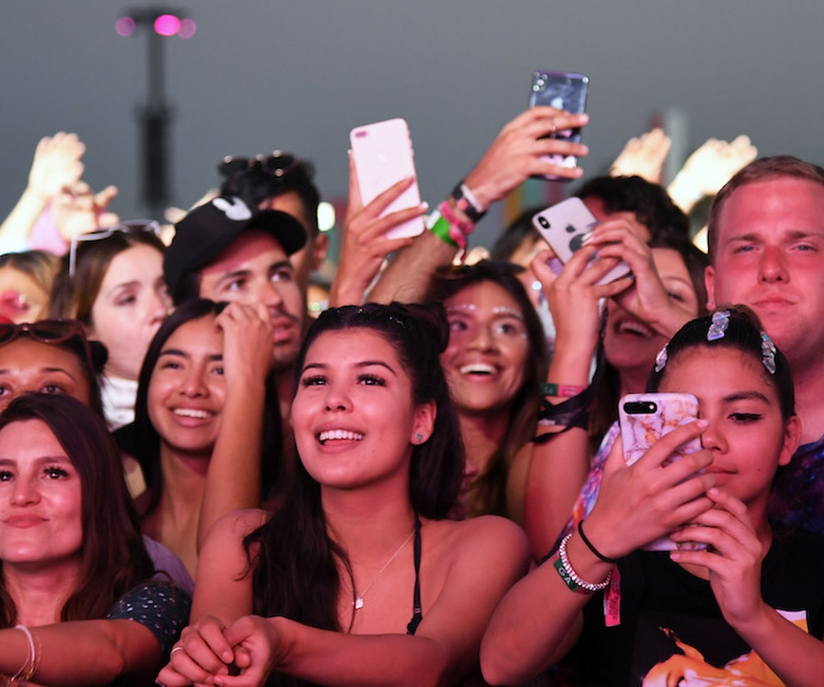 Festivalgoers watch Zedd perform at Coachella Stage during the 2019 Coachella Valley Music And Arts Festival on April 21, 2019 in Indio, California.