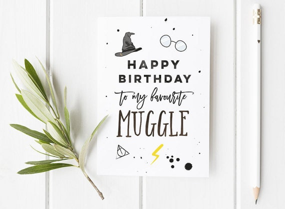 photograph regarding Harry Potter Birthday Card Printable named 15 Harry Potter Encouraged Birthday And Greeting Playing cards