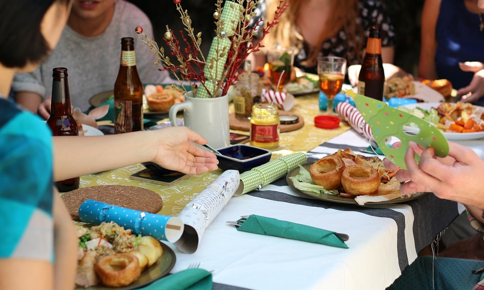 Image result for Eat with a friend instead of alone and you might find that you can't say no to dessert. Why does dining with friends affect our appetite?