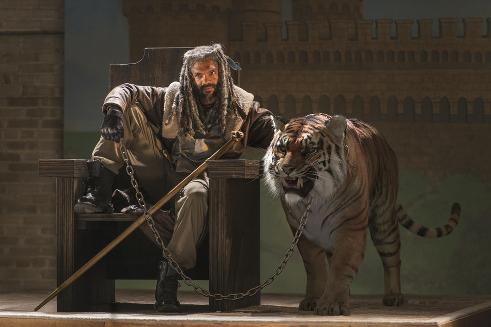 Is Shiva A Real Tiger On The Walking Dead Ezekiel S Pet Adds To