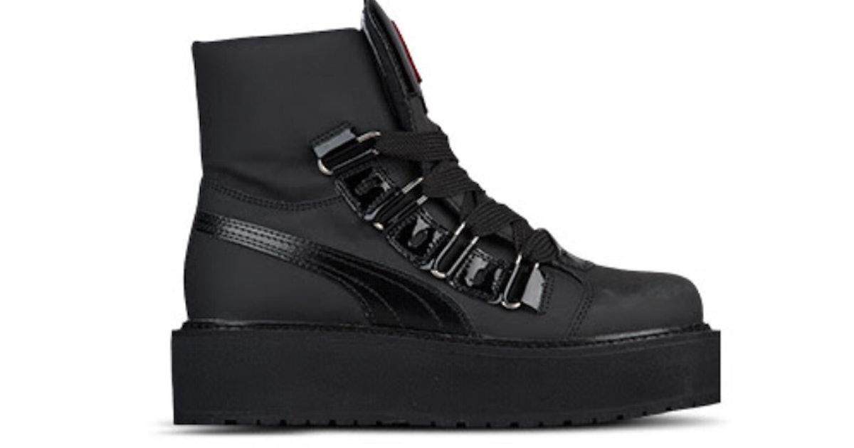 meet f77cd c6594 Where To Buy The Rihanna Puma Fenty Sneaker Boot In Black ...