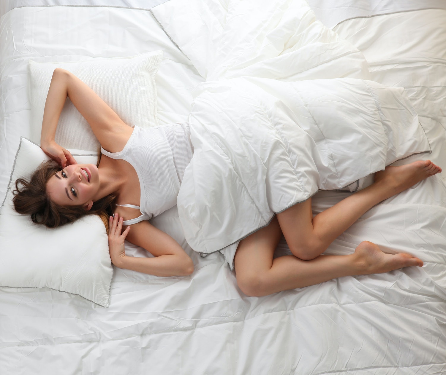 Women tease while men masturbate