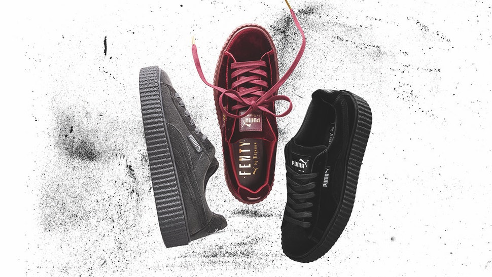 48ff8152b84a When Are The Rihanna Velvet Puma Fenty Creepers Coming Out  Shop The Luxe  Kicks On This Date — PHOTOS