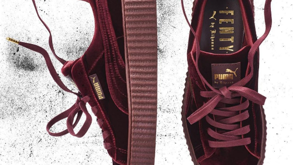 timeless design 4c8f4 bbac6 How Much Are The Rihanna Velvet Puma Fenty Creepers? Here's ...