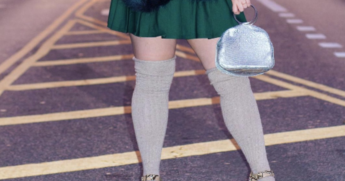 2a39785231c4c Where To Buy Plus Size Knee High Socks & Stockings To Channel Your Inner  Blair Waldorf — PHOTOS
