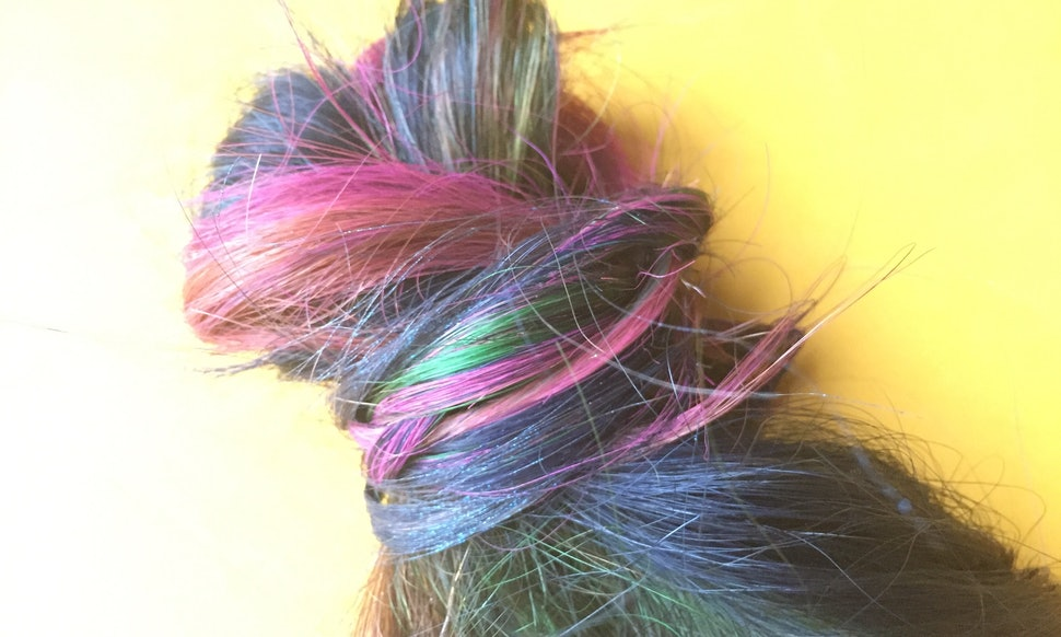 How To Make Rainbow Hair Extensions For A Temporary Burst Of Color