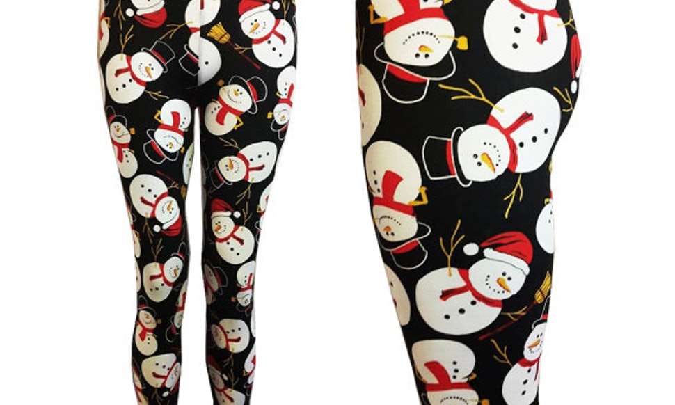 11 plus size christmas leggings tights for gams that need some holiday cheer