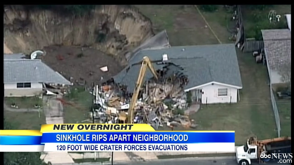 Spring Hill Florida Sinkhole Threatens To Devour Homes