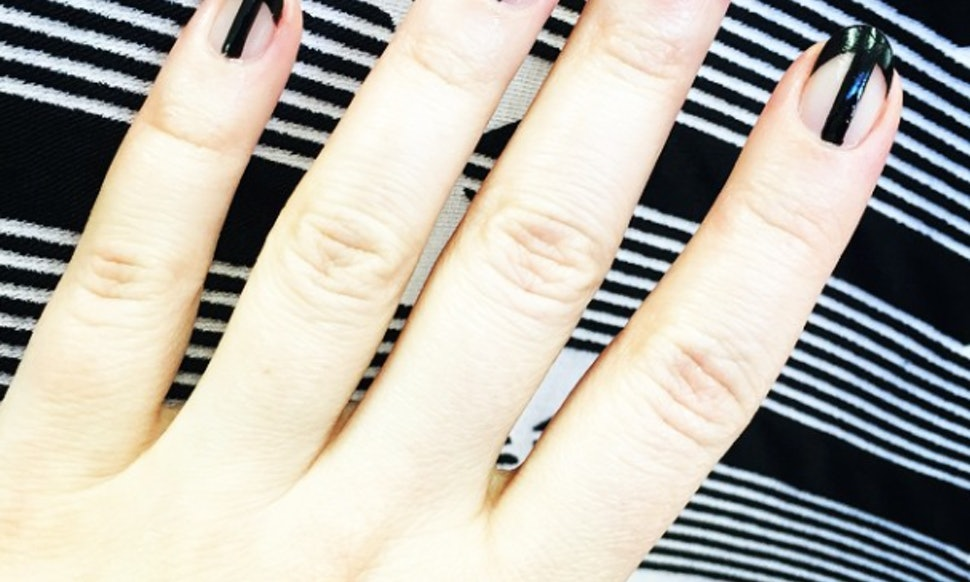 9 Black Clear Nail Polish Designs To Inspire Your Goth French Manicure
