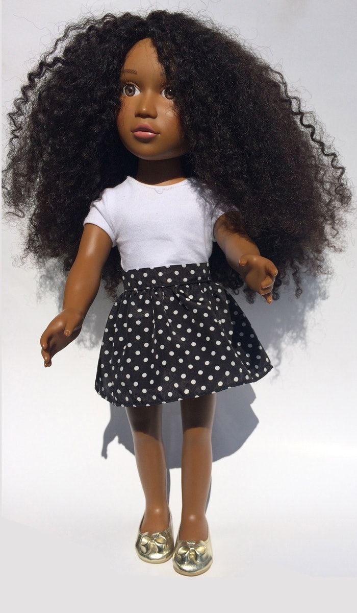 """a natural hair doll named """"the angelica doll"""" is about to change the"""