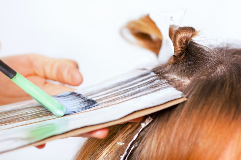 Experts caution against bleaching your hair with hydrogen peroxide.