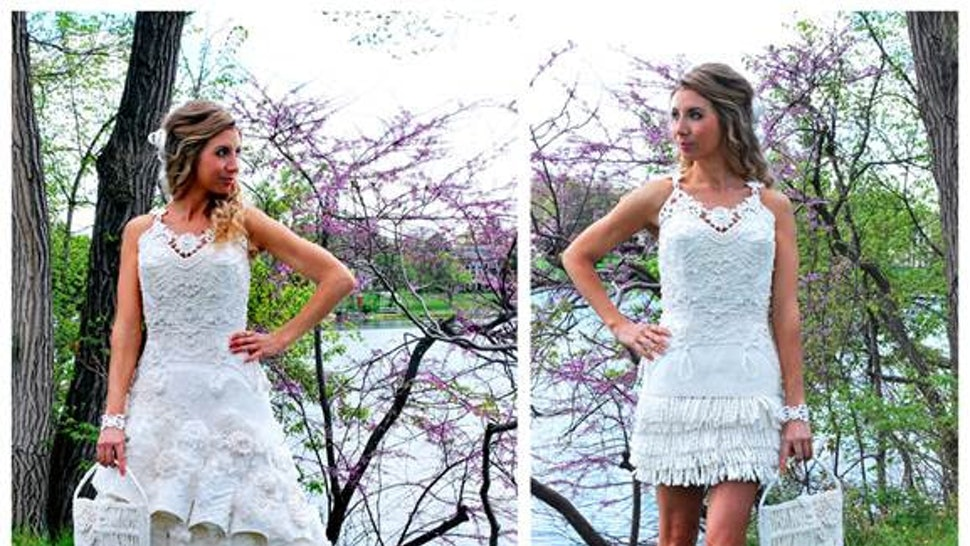 These Wedding Dresses Made From Toilet Paper Take Bridal Diy To A