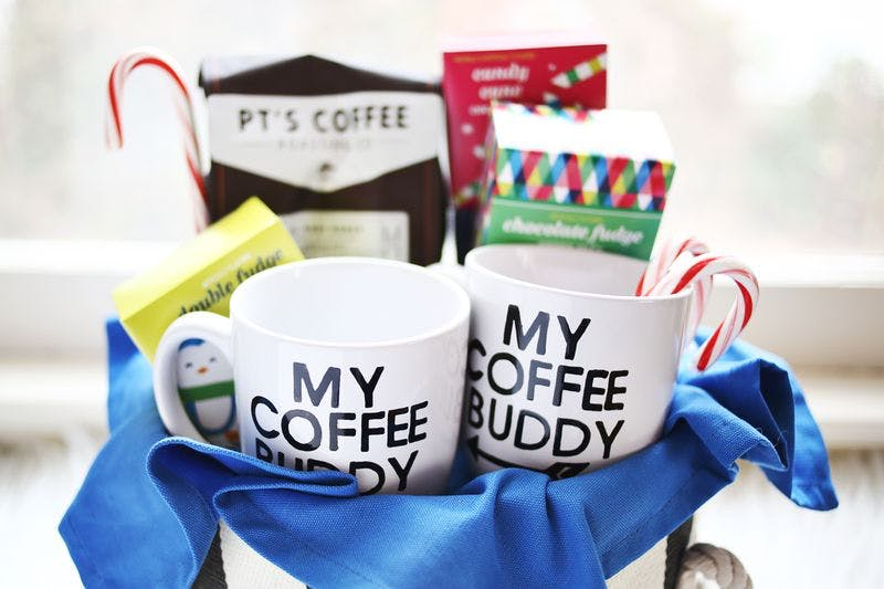 9 Last Minute Gifts You Can Make With A Mug Starting With A Super Cute Coffee Basket