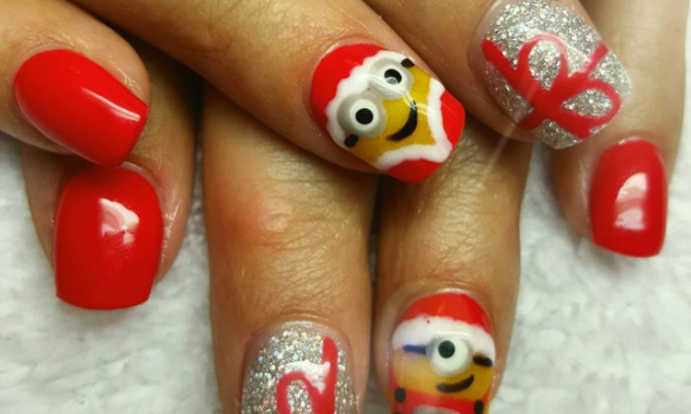 8 Christmas Nail Art Ideas To Inspire Your Holiday Mani Photos