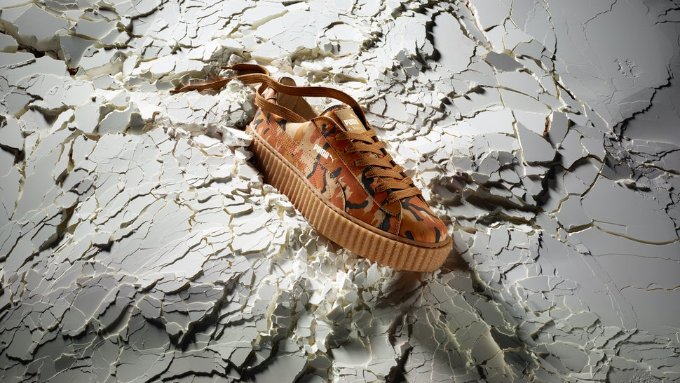 cd1e4a0cdf6fb4 Will Puma Restock The Rihanna Camo Creepers  This Is What We Know About  These Stylin  Orange Sneakers
