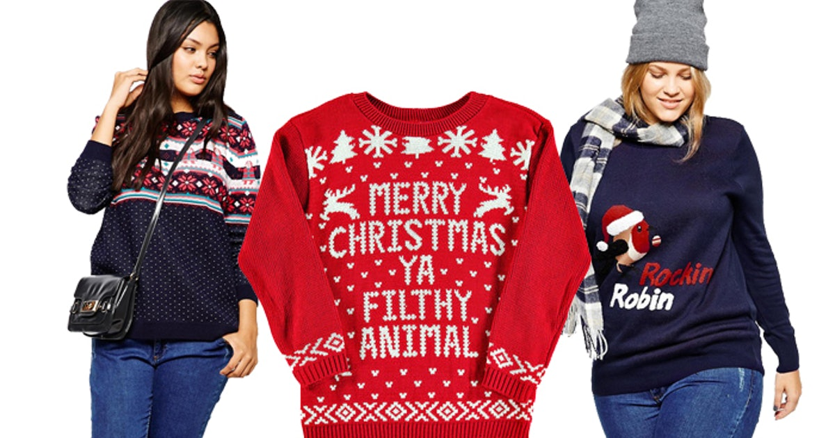 a432c6ff811 33 Ugly Christmas Sweaters for Plus-Size Babes