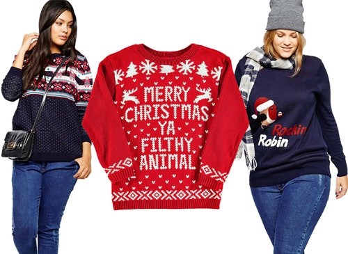33 ugly christmas sweaters for plus size babes because ugly is actually super cool