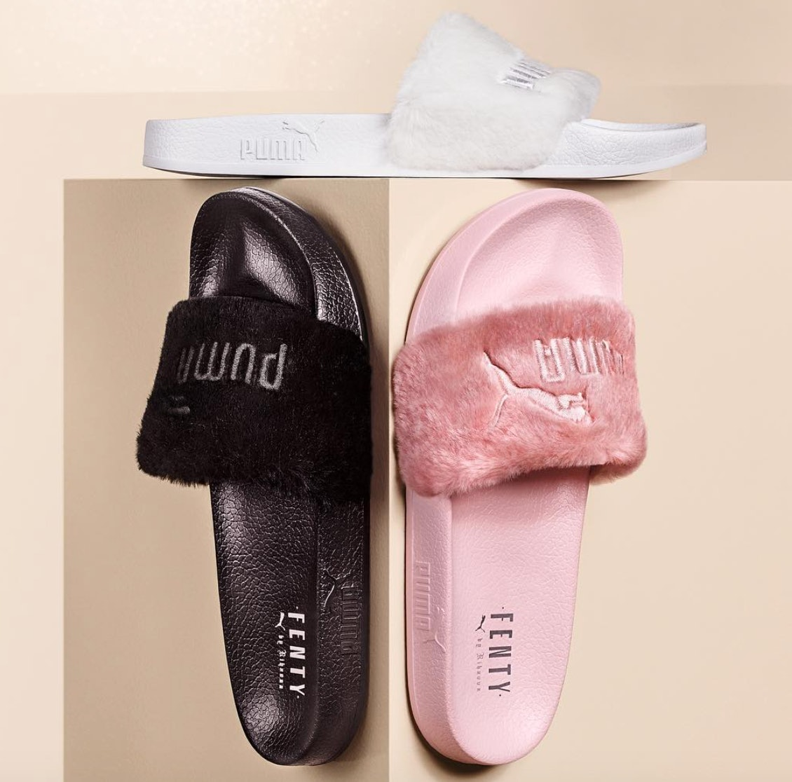 Are Rihanna Puma Fur Slides Worth It  They Aren t Shower Shoes But They  Sure Are Comfy — PHOTOS 8a158db8ee5b