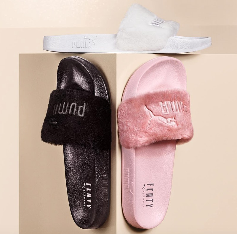 Are Rihanna Puma Fur Slides Worth It? They Aren't Shower ...