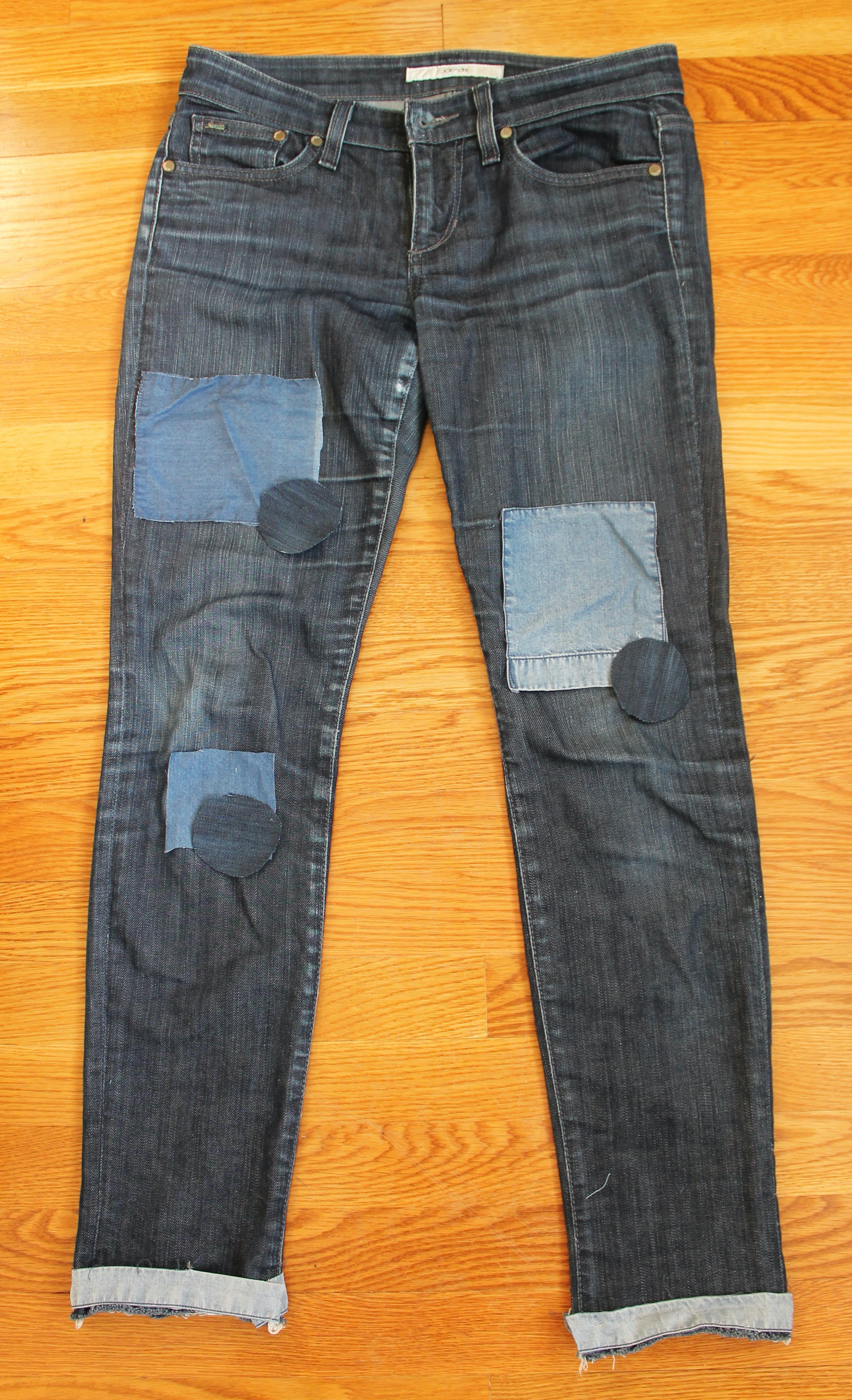 How to make a patch on jeans 5