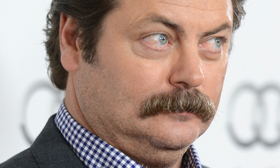 Nick Offerman Shaved His Mustache So How Would Ron Swanson React To