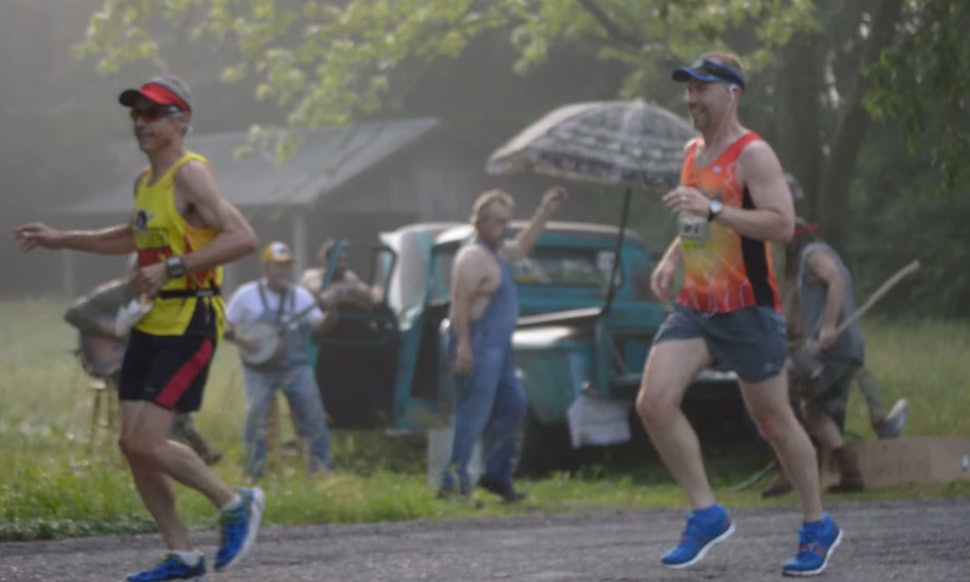 Marathon Runners Get Heckled By Banjo And Guitar Players Which